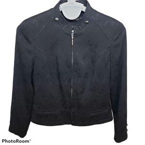 Tribal black embossed floral jacket size 10